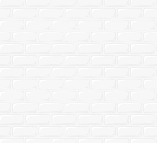 흰색 벽돌 벽의 그림입니다. 매끄러운 질감 배경입니다. 연속 복제를위한 만화 벽돌 벽 패턴의 플랫 아트 스타일 디자인