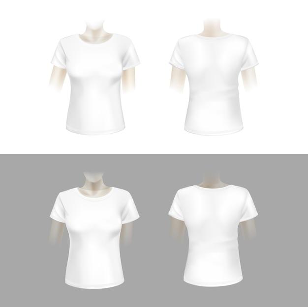 Иллюстрация белая женская футболка