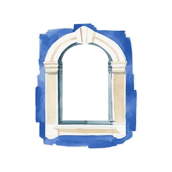 창 물 색 스타일의 일러스트 레이션
