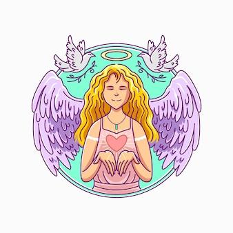 여자 천사의 그림