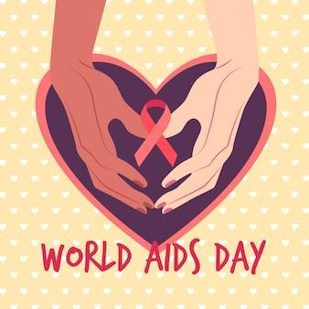 世界エイズデーのコンセプトのイラスト