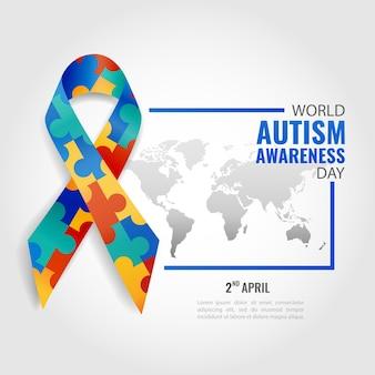 Иллюстрация всемирного дня осведомленности об аутизме.