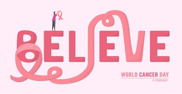 Иллюстрация всемирного дня рака