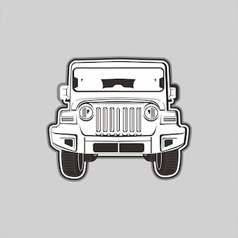 Illustration of off-road 4x4