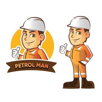 Illustration of offshore employee mascot