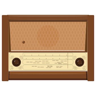 Illustration of an old radio
