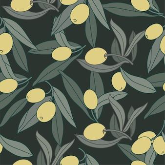 Иллюстрация оливковая ветвь винтажный линейный стиль