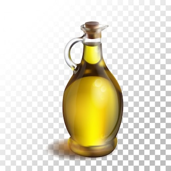 Illustration olive oil on transparent