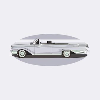 ビンテージクラシックカーのイラスト