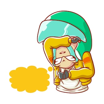 Illustration online taxi crying sad broken heart hand drawn cartoon coloring style