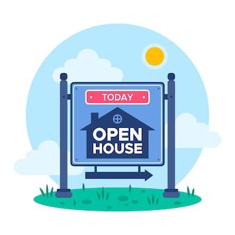 Illustrazione del segno della casa aperta