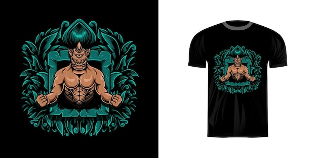 Tシャツデザインのイラストオーク