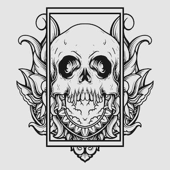 Illustration ornament for tattoo