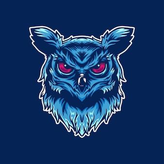 イラストフクロウのロゴ