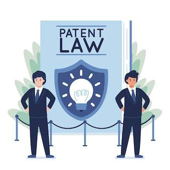 Illustration of patent law concept