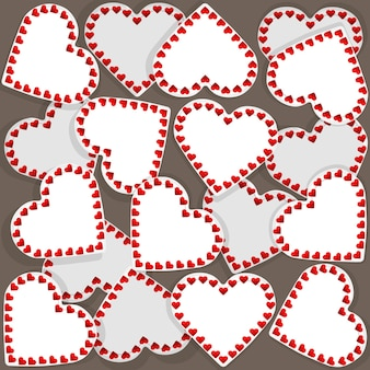 Illustration of pattern with many small hearts