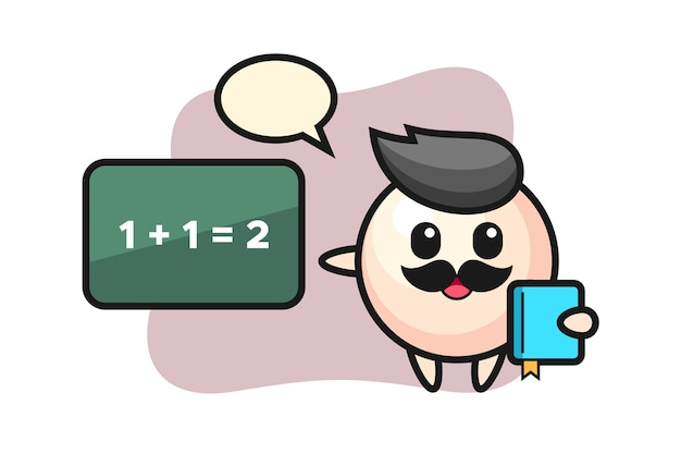 Illustration of pearl character as a teacher