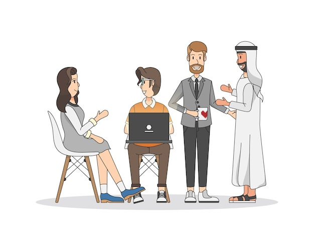 Illustration of people having a meeting