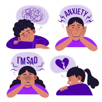 Illustration of people with mental health problems