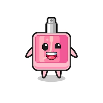 Illustration of an perfume character with awkward poses , cute style design for t shirt, sticker, logo element