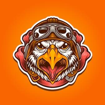 Illustration of pilot eagle
