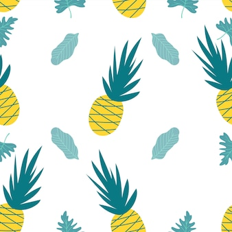 Illustration of pineapple on white background