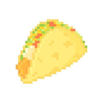 Illustration of pixelated taco