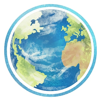 Illustration planet, air day, ozone layer, ozone day, planet earth, view from space