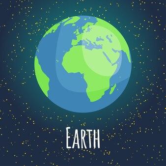 Illustration planet earth