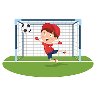 Illustration of playing football