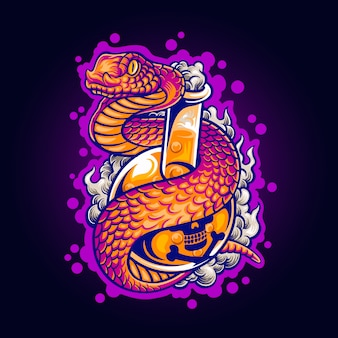 Illustration of poison snake