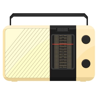 Illustration of a portable radio