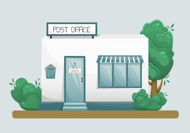 Illustration of the post office building
