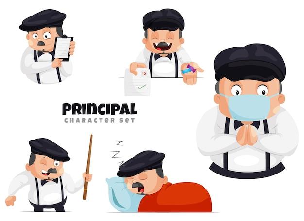 Illustration of the principal character set