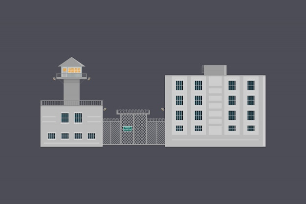 Illustration of prison
