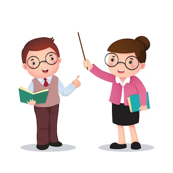 Illustration of profession costume of teacher for kids