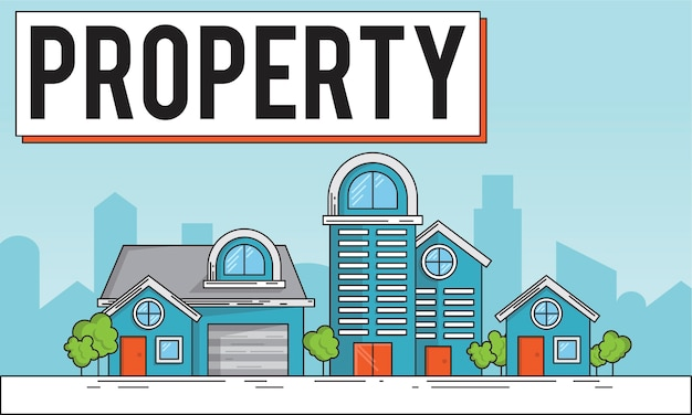 Illustration of property concept