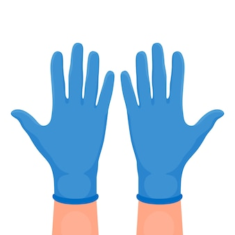 Illustration of protective gloves