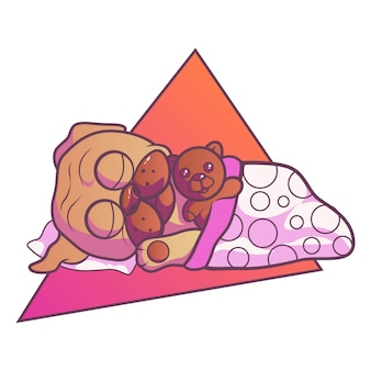 Illustration of pug dog.