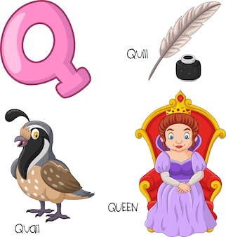 Illustration of q alphabet