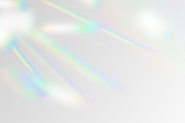 Illustration of rainbow flare overlay effect
