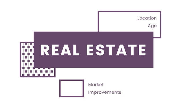 Illustration of real estate concept