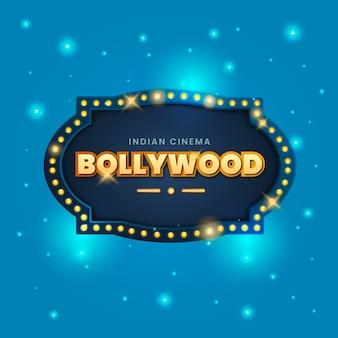 Illustration of realistic bollywood cinema sign