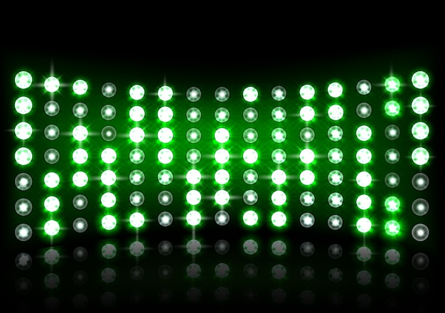 Illustration of realistic green stage light background