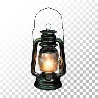 Illustration realistic lantern old style on transparent