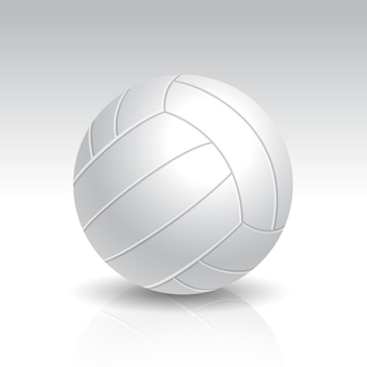 Illustration of realistic white volleyball