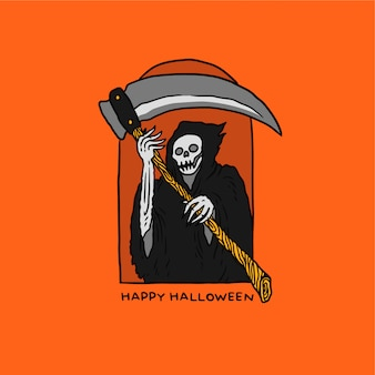 Illustration of reaper halloween