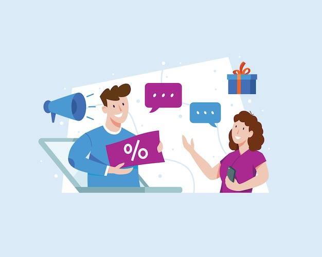 Illustration referral marketing