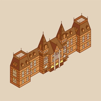 Illustration of the rijksmuseum in netherland