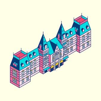 Illustration of the rijksmuseum in netherland